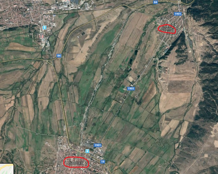 Banja-Bansko mapa - geo karta