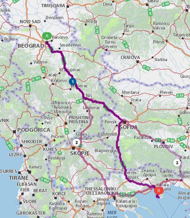 Put kroz Bugarsku za Tasos - Beograd - Kavala